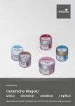 Nuove istruzioni d´uso ceramiche Wegold